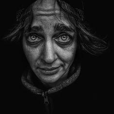 Skid Row 2016 by Lee Jeffries on Black N White Images, Black And White Portraits, Lee Jeffries, Photo Portrait, Portrait Photography, Man Portrait, Photography Women, White Photography, Photo Polaroid