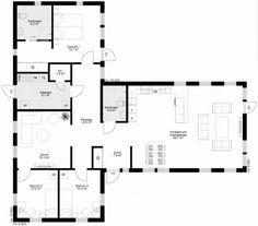 Förstoring Duplex Plans, Apartment Plans, House Drawing, House Layouts, Big Houses, House Goals, House Floor Plans, Home Interior Design, Bungalow