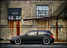 Murdered out MK4 Golf lowered black