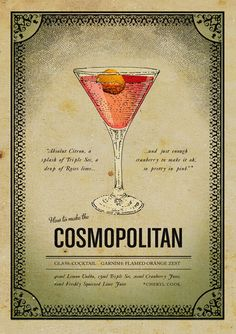 "Cosmopolitan poster www.LiquorList.com  ""The Marketplace for Adults with Taste""  @LiquorListcom   #LiquorList"