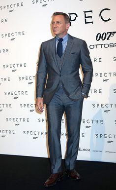 Actor Daniel Craig attends a red carpet premiere for 'Spectre' at Auditorium Della Conciliazione in Rome, Italy on (October 27, 2015)