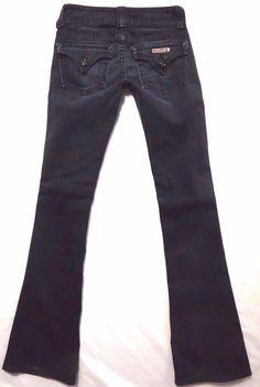 Hudson size 24 x 34 Signature boot cut Low rise Dark blue wash Womens jeans #HUDSON #BootCut
