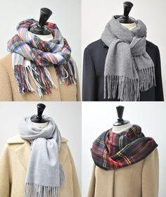 【覚えておきたい】冬のストールの巻き方5選+合わせるおすすめコート