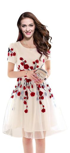 Western wear Embroidered Free size Dress