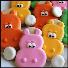 Hungry Hungry Hippo Cookies- I'm sorry but these are presh