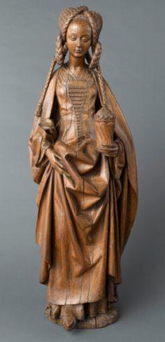 Sculpture de Sainte Marie-Madeleine, ca. 1480, Bruxelles.