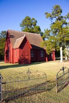 Barn Farm House in beautiful shade of red!  I've always wanted my design firm to be an old church.  This would of been GREAT!