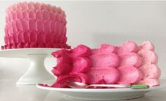 How to make a pink ombre cake