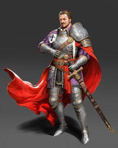 m Paladin Plate Armor Cloak Sword urban city undercity ArtStation - knight, JUYEON JO Fantasy Character Design, Character Concept, Character Inspiration, Character Art, Fantasy Inspiration, Fantasy Male, Fantasy Armor, Medieval Fantasy, Armadura Medieval