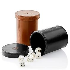 Rustic Leather Dice