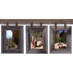 All Barn Wood Basic Barnwood Conestoga Collage for (3) 4 X 6 Pictures