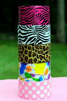 colorful patterned duct tape- crafting awaits! Please follow us @ http://www.pinterest.com/ducktapesale/