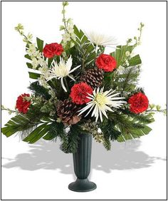 Spring flowers arrangement for a cemetery vase my creations winter flower arrangements for cemetery more mightylinksfo Choice Image