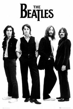 The Beatles & John Lennon posters: Beatles poster featuring a black and white shot of the band against a white background. This Beatles poster features all the band; John Lennon, Paul McCartney, George Harrison and Ringo Starr. Poster Dos Beatles, Beatles Quotes, Les Beatles, Beatles Guitar, Beatles Art, Rock And Roll, Ringo Starr, John Lennon, Great Bands