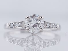 1930's Engagement Ring Antique Art Deco .66ct by FiligreeJewelers