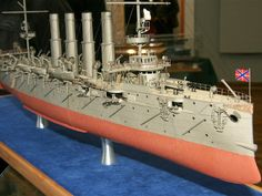092 Varyag Russian protected cruiser Paper Model Pdf File