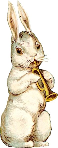 Wings of Whimsy: Vintage Easter Musical Bunnies - free for personal use #vintage…