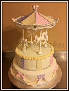 1st birthday carousel cake & smash cake