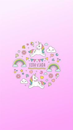Toda Viada wallpaper Power Wallpaper, Cellphone Wallpaper, Wallpaper Backgrounds, Iphone Wallpaper, Wallpaper Pictures, Tumblr Wallpaper, Unicorn Backgrounds, Ipad Background, Unicorns And Mermaids