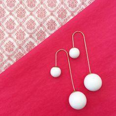 Des #double #perles, pour un #look #original et #élégant ! #mode #bijoux #fantaisie #jewerly #pink #girly