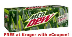 Kroger: FREE Mountain Dew 12-Pack with eCoupon (Redeem by 12/31!)