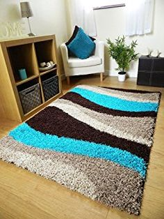 Trend Chocolate Brown And Teal Blue Wave Rug Living Room Mats, Living Room Grey, Diy Carpet, Rugs On Carpet, Carpets, Proddy Rugs, White Faux Fur Rug, Grey Shag Rug, Faux Sheepskin Rug