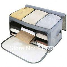 Frete Grátis caixa Visual dupla bambu aberto armazenamento de carvão vegetal caixa de armazenamento caixa de acabamento US $10.53