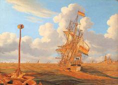 Hendrick Pronck, Seascape with the Ship De Bul, ca. 1675. Frans Hals Museum #franshalsmuseum #haarlem #orange #art