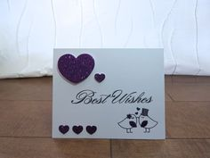 Handcrafted Cards from My Pretty Creativity -  https://www.facebook.com/MyPrettyCreativity Updated an exisiting design of mine!  #kissingtwosome #bestwishes #lovenotes #wedding #hearts #glitter #lovebirds #greetingcards #handmade #handcrafted
