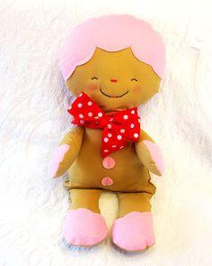 Christmas Gingerbread Soft Plush Rag Doll. $22.00, via Etsy.