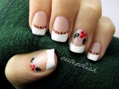 facebook.com/cutepolish | twitter: @cutepolish | instagram: cutepolish Deck the halls with boughs of HOLLY... fa la la la la la la la la It's my favorite time of the year for nail art designs! I hope you enjoy this simple, clean, and classy Christmas holly manicure. Please share your recreations with me via social networking. Wishing you a love...