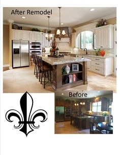 Before and After Pic of kitchen renovation / remodel, interior design. By Euro Design Build Remodel. www.eurodesignbuild.com
