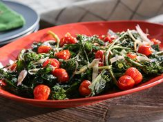 Roasted Broccoli Rabe recipe from Valerie Bertinelli   (Serve with turkey meatloaf and pumpkin pudding)