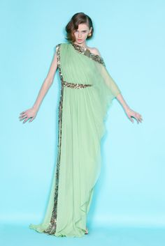 Celebrities who wear, use, or own Marchesa Resort 2012 Green Dress. Also discover the movies, TV shows, and events associated with Marchesa Resort 2012 Green Dress. Indian Designer Wear, Beautiful Gowns, Gorgeous Dress, Dream Dress, Dress To Impress, Designer Dresses, Designer Bags, Evening Dresses, Ideias Fashion