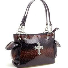 Dasein Esserpenti® Rhinestone Cross Shoulder Bag