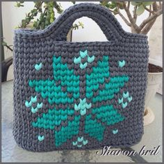 "New Cheap Bags. The location where building and construction meets style, beaded crochet is the act of using beads to decorate crocheted products. ""Crochet"" is derived fro Bag Crochet, Crochet Handbags, Crochet Purses, Crochet Crafts, Tapestry Bag, Tapestry Crochet, Yarn Bag, Boho Bags, Knitted Bags"