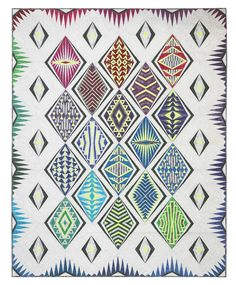"""Java Blenders - """"Empire Place Block of the Month"""" - Quilt by Sassafras Lane Designs Modern Quilt Patterns, Quilting Patterns, Block Of The Month, Art Deco Era, Lights Background, Quilt Making, Paper Piecing, Quilt Blocks, Coloring Pages"""