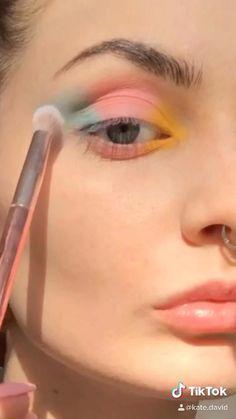 Makeup Eye Looks, Eye Makeup Art, Cute Makeup, Eyeshadow Looks, Skin Makeup, Makeup Inspo, Eyeshadow Makeup, Makeup Inspiration, Sweet Makeup