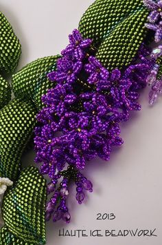 HAUTE ICE BEADWORK: Discussion of the process of making a big, complicated piece. The process is the tute.~ Seed Bead Tutorials