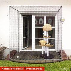 Tiergehege hier als Katzengehege für die Terrasse