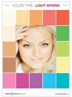 Light Spring Palette, Spring Color Palette, Colour Pallette, Spring Colors, Color Type, Type 1, Color Me Beautiful, Bright Spring, Soft Summer