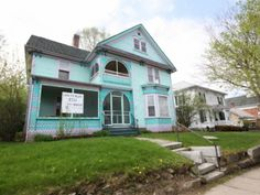 Richford, Vermont  If mint green isn't your thing, don't worry – this Vermont fixer-upper costs only slightly more than a can of paint. The exterior is dripping with original detail! $43,500