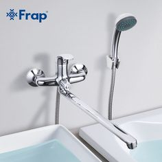 (41.18$)  Watch here - http://ai4kw.worlditems.win/all/product.php?id=32764773433 - Frap 1 Set Bathroom Faucet Cold and Hot Water Mixer Chrome Finished Tap 40cm Rotation Long Nose Single Handle F2236