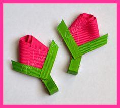 M2MG Bright Tulip Creative Boutique Hair Clippies. $5.50, via Etsy.