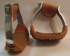 "Sharon Camarillo's Barrel Racing Superstore - 3"" Walls Slanted Stirrups, $99.99 (http://www.barrelracingsuperstore.com/3-walls-slanted-stirrups/)"