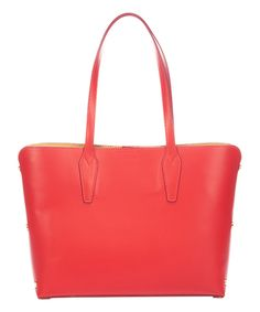 Love this Red Magnet-Snap Leather Tote by Massimo Castelli on #zulily! #zulilyfinds