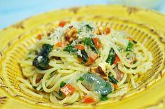 stuttgartcooking: Pasta mit Gemüse, Bärlauch und Parmesan