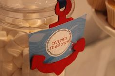 Anchor Tag holder - Nautical Theme Party