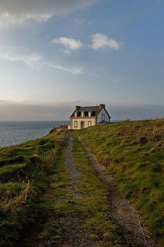 A seaside cottage in Beuzec-Cap-Sizun. A commune in the Finistère department of Brittany in north-western France, lying on the promontory of Cap Sizun. Nature Aesthetic, Travel Aesthetic, Beautiful Places, Places To Visit, Scenery, Around The Worlds, In This Moment, Brittany France, Dreams