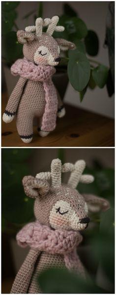 Das kleine gehäkelte Rentier ist ein tolles Geschenk für Babies und Kinder. Zur Geburt, Taufe oder zum Geburtstag kommt das kleine Stofftier super an / Sweet rendeer doll, perfect as a gift for babies and children made by Kreativbuero_mitherz via DaWanda.com #puppe #stofftier #kuscheltier #amigurumi #gehäkelt #baumwolle #rentier #matilda #pastell #rendeer #stuffed #animal #crochet #pastel #cute #gift #idea #christening #birth #birthday